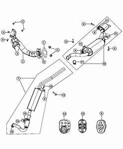 2011 Dodge Grand Caravan Muffler And Resonator  Exhaust