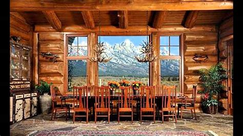 Log Home Interior Design Ideas  Youtube