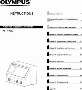 Olympus Medical Systems Ru8354 Automated Endoscope Leak