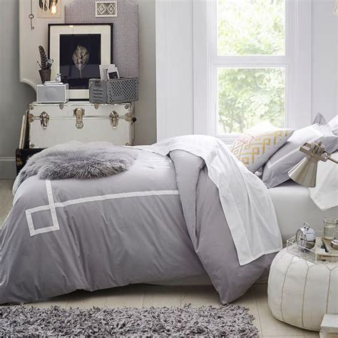 gray and white comforter gray and white ribbon trim bedding