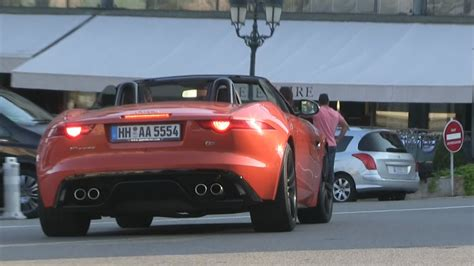 Orange Jaguar F-type In Monaco