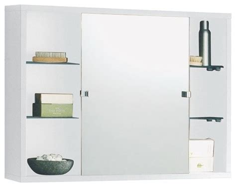 Wall Mounted One-piece Medicine Cabinet With Sliding
