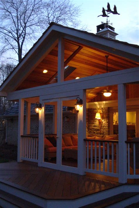 high open gable roof  covered porch