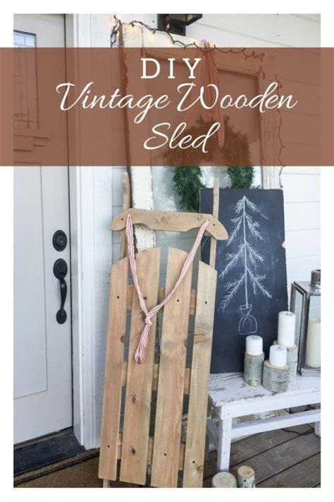 diy vintage wooden sled christmas wood crafts