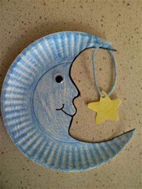 paper plate moon craft  cute