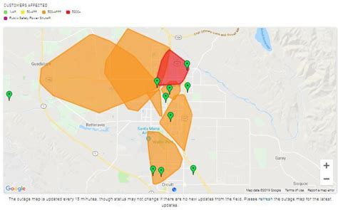 power outage affects thousands  pge customers