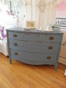 Shabby, Chic, Country, Cottage, Dresser, Historic, Blue, Distressed