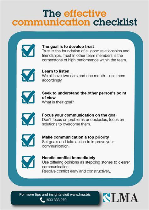 effective communication checklist