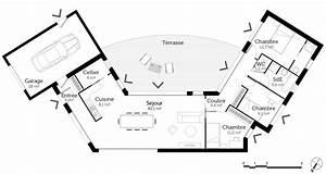 plan maison en u ouvert ooreka With plan maison en u ouvert 4 plan maison 3d 100m2