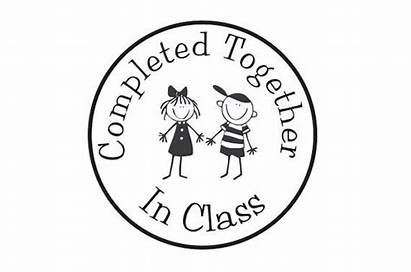 Completed Class Stamp Rubber Teacher Together Stampoutonline