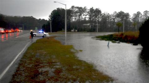 storm floods beaufort county roads brings record setting