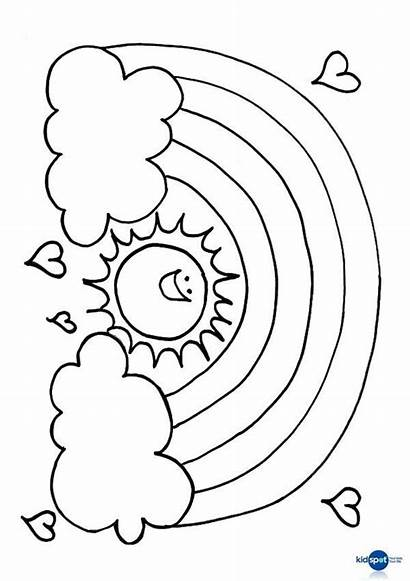Rainbow Coloring Pages Sun Fish