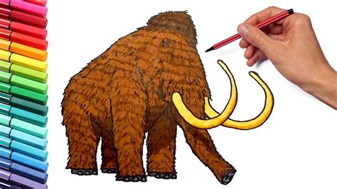 drawing  coloring  mammoth   draw prehistoric