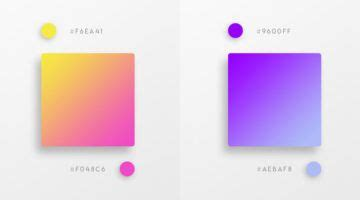 beautiful color gradients    design project