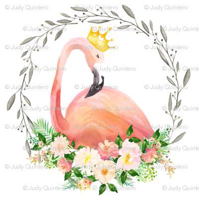 floral flamingo  crown wallpaper shopcabin