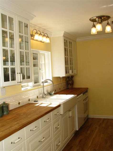 white cabinets yellow walls kitchen historic ikea kitchen remodel the white and butcher 1754