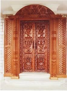 Wooden, Carved, Main, Entrance, Door, 7ft, X, 7ft