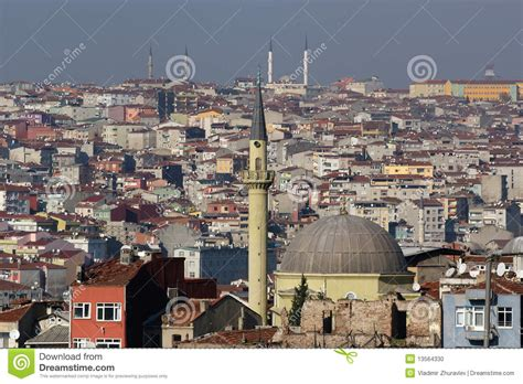 Istanbul Turkey City View Stock Photo Image 13564330