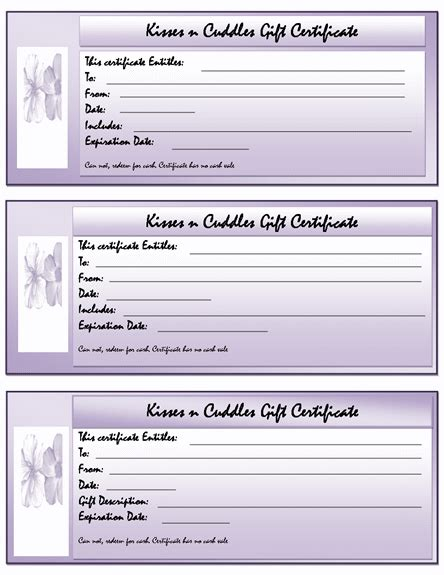 gift certificate templates microsoft word templates