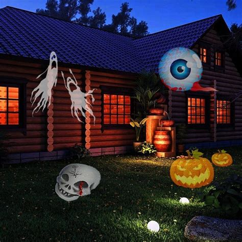 holiday living halloween lights 1x 12 patterns outdoor projector light for halloween