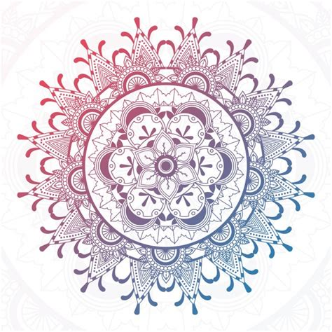 bunte mandala design  der kostenlosen vektor