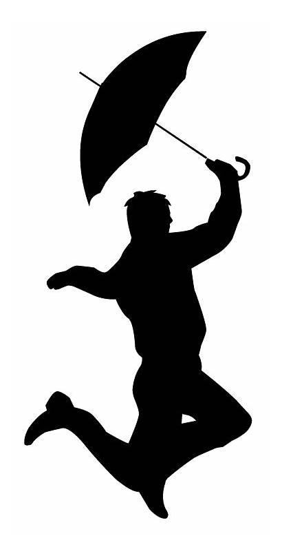 Singing Silhouette Rain Clipart Clip Person Library