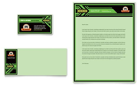 oil change business card letterhead template design