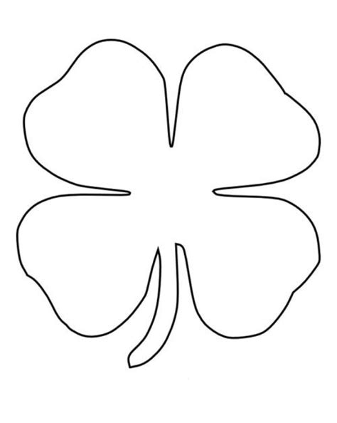 leaf clover template coloring home