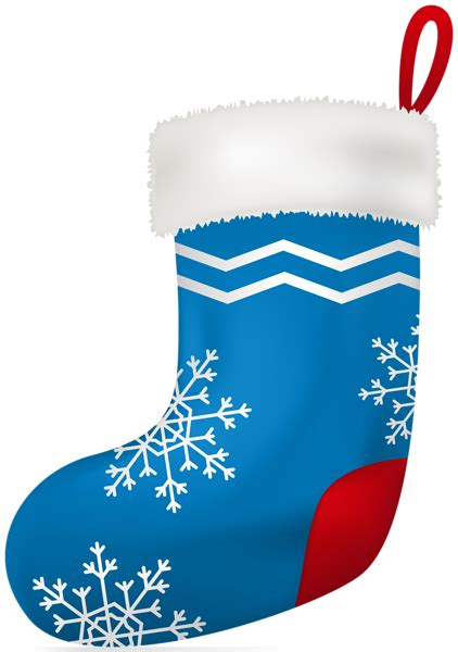 christmas blue stocking clip art image gallery
