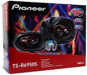pioneer ts r6950s 6 x9 300w 3 way coaxial car audio stereo lifier speakers