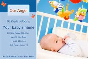 Free photo templates baby birth announcement 2 for Baby birth announcements templates for free