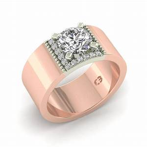 Wide Band Engagement Ring Cassandra Mamone
