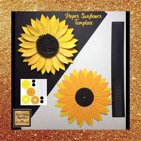paper flower paper sunflowers sunflower template svg cut