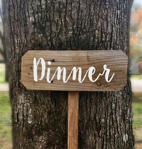 Dinner Sign - Barnwood Rust Designs