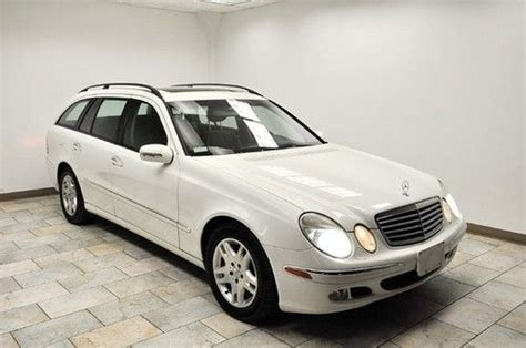 Does anyone know when the 2004 e320 wagon is supposed to hit the shores of north america? Find used 2004 MERCEDES-BENZ E320 WAGON 4MATIC AWD LOW MILES WHITE/BLACK EXT WARRANTY in ...