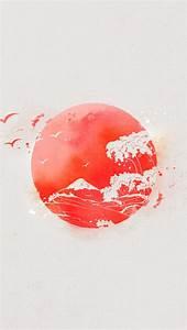 Nipon Eastern Sun Japan Waves iPhone 5 Wallpaper ...