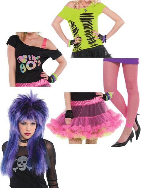 ladies  costume accessories adults disco neon fancy