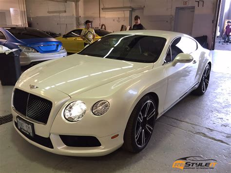 pearl white bentley continental gt vehicle customization