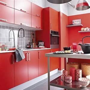 Meuble Cuisine Leroy Merlin : meuble de cuisine rouge delinia d lice leroy merlin ~ Melissatoandfro.com Idées de Décoration