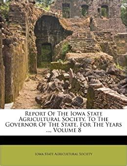 report   iowa state agricultural society