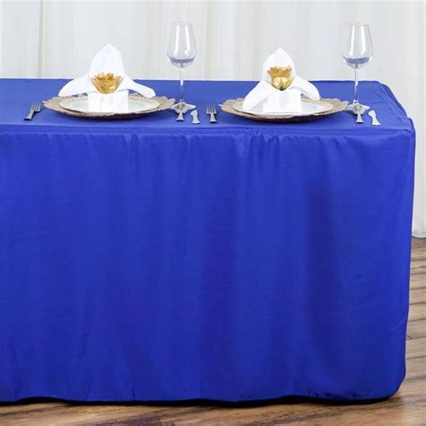 royal blue table linens royal blue fitted 8 feet tablecloths efavormart