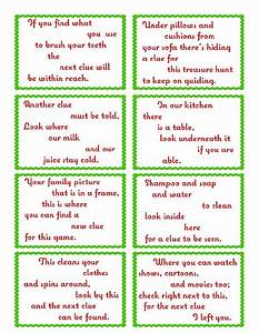 Treasure Hunt Clue Cards - Page 1   elfoutfitters.com # ...