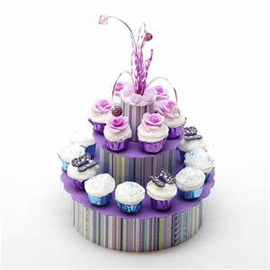 Purple Stripe Cupcake Display Stewart Dollhouse Creations