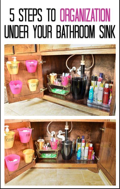 bathroom organization   sink tips  prudent life