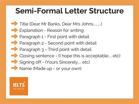 write  semi formal letter ielts formal letter
