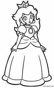 Free super mario peach coloring pages