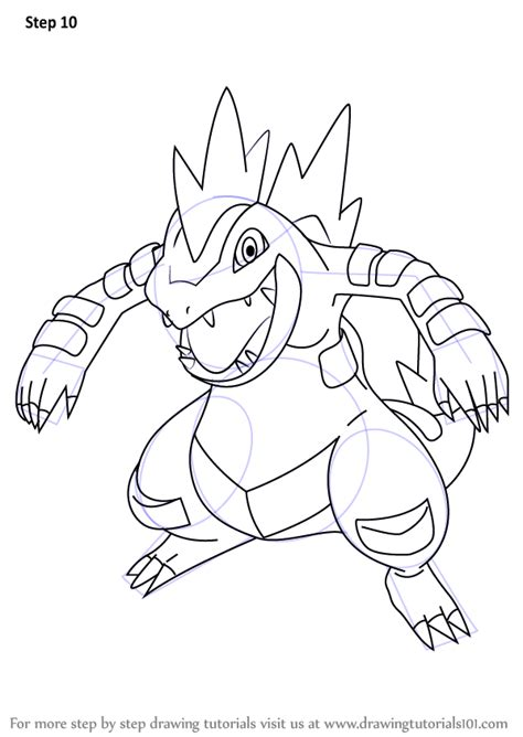 learn   draw feraligatr  pokemon pokemon step  step drawing tutorials