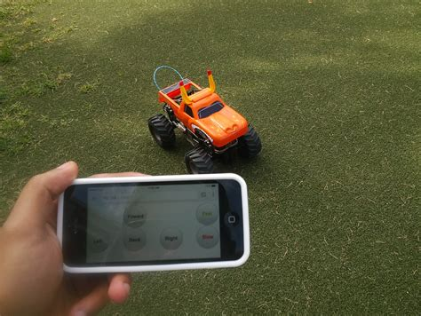 smartphone controlled toys truck controlled with smartphone and powered with