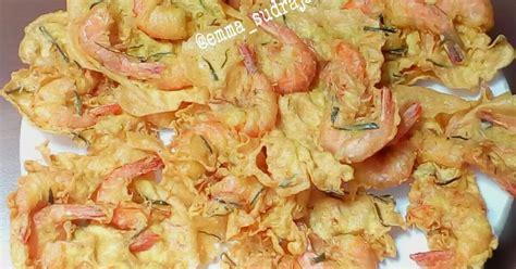 resep rempeyek udang crispy enak  sederhana cookpad