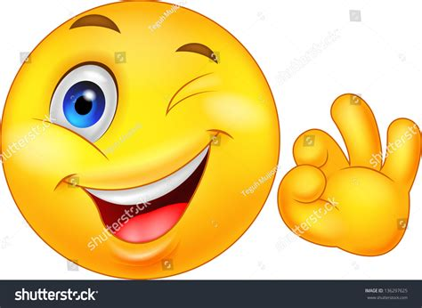 Smiley Emoticon Ok Sign Illustration Libre De Droits